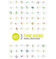Set of abstract logo ideas time concepts vector image