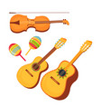 set traditional mexican musical instruments vector image vector image
