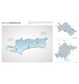 set turkmenistan country isometric 3d map vector image vector image