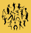 silhouettes of dancers dancing charleston and vector image vector image