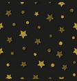 star christmas design seamless gold pattern vector image