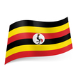 State flag of Uganda vector image vector image