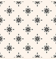 subtle geometric seamless pattern with stars vector image vector image
