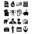TAX icons set vector image vector image