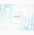 technology blue circuit diagram background vector image vector image