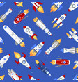 technology ship rocket cartoon seamless vector image vector image