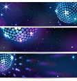 three horizontal disco backgrounds vector image vector image