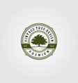 vintage oak tree logo retro emblem label design vector image vector image