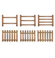 vnn wood fence vector image vector image