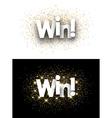 Win paper banner vector image vector image