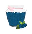 Blueberrry jam vector image