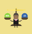 african businessman balance work and life vector image