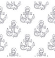 anchors with rope sketch as seamless pattern vector image vector image