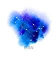 Astrology sign Gemini on watercolor background vector image