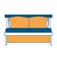 bed wooden with pillows color section silhouette vector image vector image