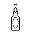 Beer bottle outline vector image