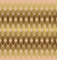 braided wavy lines gold seamless pattern vector image