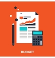 budget vector image vector image