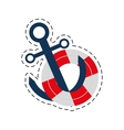 buoy anchor nautical travel maritime cut line vector image vector image