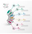 business process timeline infographics 6 step 3d