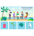 business travelling people vector image