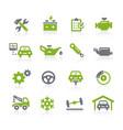 car service icons natura series vector image