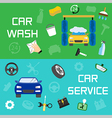 Car wash and service banners vector image