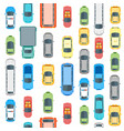 cars top view background pattern vector image vector image