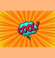 cartoon comic background speech bubble comics vector image vector image