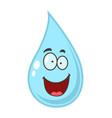 cartoon water drop vector image vector image