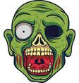 cartoon zombie head vector image vector image