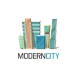 City buildings logo isolated town construction vector image vector image