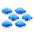 cloud computing storage data information icon set vector image