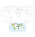Contour World Map vector image