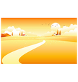 countryside scene vector image vector image