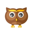 Cute little flat Owl vector image vector image
