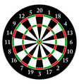 darts target for darts isolated object white vector image