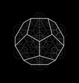 dodecahedron from metatrons cube sacred geometry vector image vector image