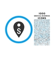 dollar map marker rounded symbol with 1000 icons vector image vector image