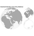 dotted earth globe with central view of europe vector image