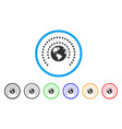 earth sphere shield rounded icon vector image