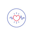 ecg electrocardiography heart diagnostics icon vector image vector image