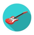 Electric guitar icon in flat style isolated on vector image
