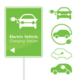 Electric Vehicle Charging Station road sign vector image vector image