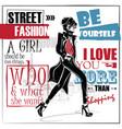 Fashion girl in sketch-style fashion woman