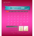 February 2013 Calendar vector image vector image