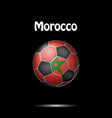 flag of morocco in the form of a soccer ball vector image