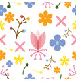 flower nature design seamless pattern background vector image