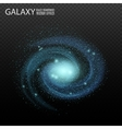 Galaxy Really transparent galaxy effect vector image