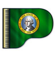 grand piano washington flag vector image vector image